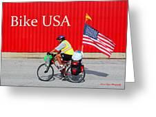 Bike Usa Greeting Card by Lorna Rogers Photography