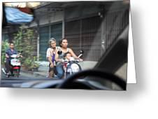Bikes - Bangkok Thailand - 01131 Greeting Card by DC Photographer