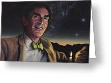 Bill Nye - A Candle In The Dark Greeting Card by Simon Kregar