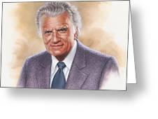 Billy Graham Evangelist Greeting Card by Dick Bobnick
