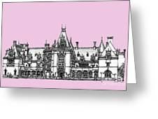 Biltmore Estate In Pink Greeting Card by Lee-Ann Adendorff