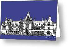 Biltmore Estate In Royal Blue Greeting Card by Lee-Ann Adendorff