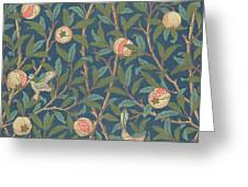 Bird and Pomegranate Greeting Card by William Morris