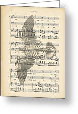 Bird Music Greeting Card by Nomad Art And  Design