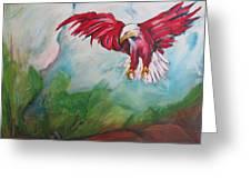 Bird Of Prey Greeting Card by Paul Kilyanek