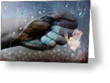 Birdie Paintress Greeting Card by Barbara Orenya