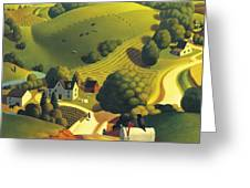 Birds Eye View Greeting Card by Robin Moline