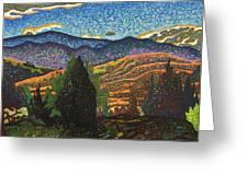 Birdseye Landscape #1 Greeting Card by Dale Beckman