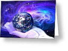 Birth of a Planet Greeting Card by Lisa Yount