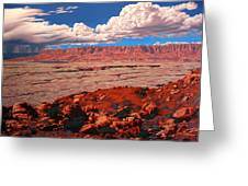 Birth Of The Canyon Greeting Card by Cheryl Fecht