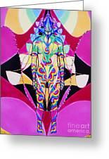 Birth Of The Flying Rainbow Lasagne Greeting Card by Nofirstname Aurora