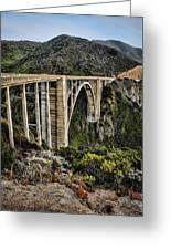 Bixby Creek Bridge Greeting Card by Heather Applegate