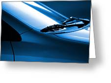 Black and Blue Cars Greeting Card by Carlos Caetano