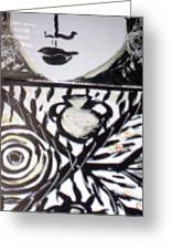 Black And White Greeting Card by Catherine Walker