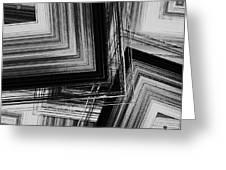 Black And White Geometric Art Greeting Card by Mario  Perez