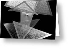 Black and White Triangles Greeting Card by Mario  Perez