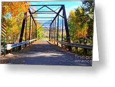 Black Bridge Greeting Card by Bob Hislop