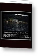 Black Calm - Old Stage - Lobster Pots Greeting Card by Barbara Griffin