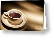 Black Coffee Greeting Card by Olivier Le Queinec