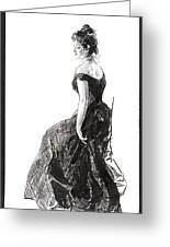 Black Evening Dress 1901 Greeting Card by Padre Art