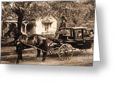 Black family in buggy Greeting Card by Paul W Faust -  Impressions of Light