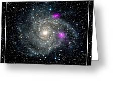 Black Holes In Spiral Galaxy Nasa Greeting Card by Rose Santuci-Sofranko