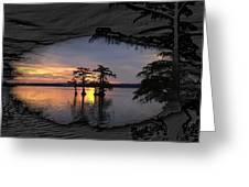 Black Night Sunrise Greeting Card by J Larry Walker
