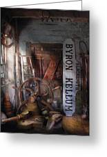 Black Smith - Byron Kellum Blacksmith Greeting Card by Mike Savad