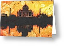 Black Taj Mahal Greeting Card by Mo T