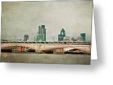 Blackfriars Bridge Greeting Card by Violet Gray