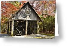 Blacksmith Shop Greeting Card by Susan Leggett