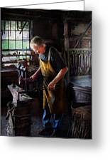 Blacksmith - Starting With A Bang Greeting Card by Mike Savad
