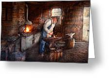 Blacksmith - The Smith Greeting Card by Mike Savad