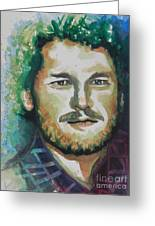 Blake Shelton  Country Singer Greeting Card by Chrisann Ellis