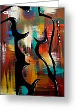 Blender - Original Abstract Art By Fidostudio Greeting Card by Tom Fedro - Fidostudio