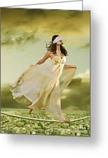 Blind Faith Greeting Card by Linda Lees