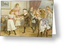 Blind Mans Buff Greeting Card by George Goodwin Kilburne
