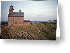 Block Island North West Lighthouse Greeting Card by Skip Willits