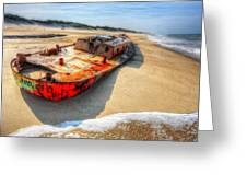 Blood and Guts I - Outer Banks Greeting Card by Dan Carmichael