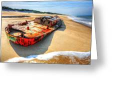 Blood And Guts II - Outer Banks Greeting Card by Dan Carmichael