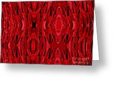 Blood Revenge-mechanical- Imaginary Texture Greeting Card by David Winson