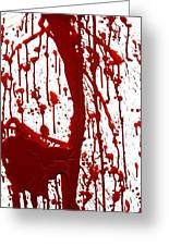 Blood Splatter II Greeting Card by Holly Anderson