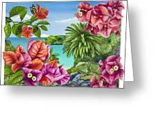 Blossom Bower Greeting Card by Carolyn Steele