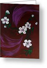 Blossoms Greeting Card by Nyxie Clark