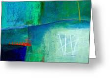 Blue #1 Greeting Card by Jane Davies