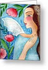 Blue  Angel Greeting Card by Elaine Jackson