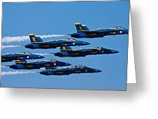 Blue Angels Greeting Card by Adam Romanowicz