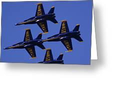 Blue Angels Greeting Card by Bill Gallagher