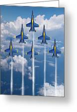 Blue Angels Greeting Card by J Biggadike