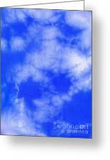 Blue Batik Pattern  Greeting Card by Kerstin Ivarsson